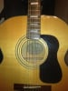 Fender SJ-65 acoustic guitar, close up